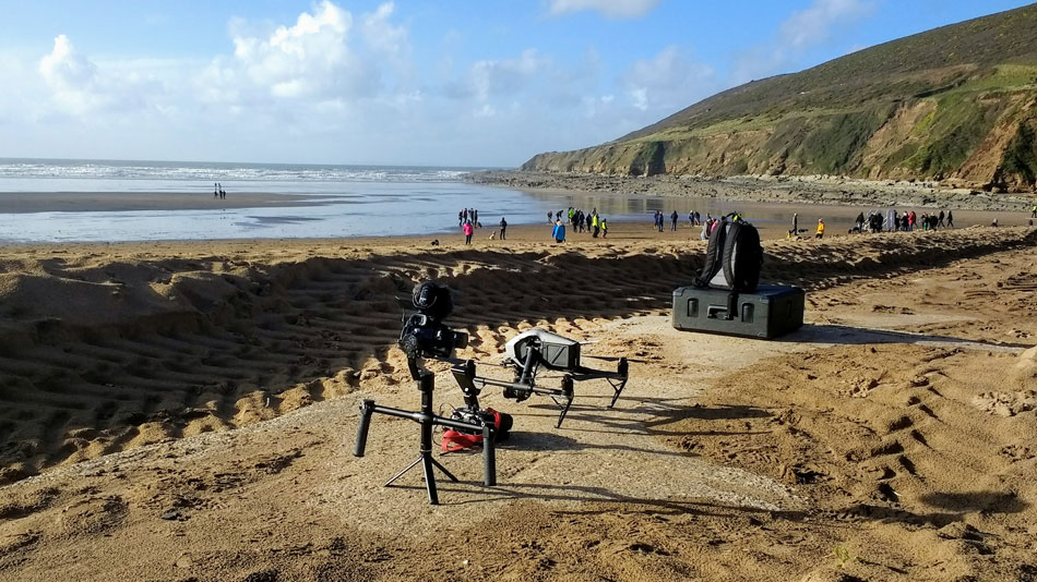 Gimbal operator for Pages of the Sea on Saunton Beach