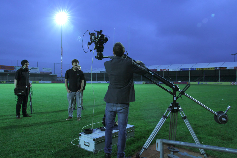 Filming Exeter Chiefs with the Porta-Jib