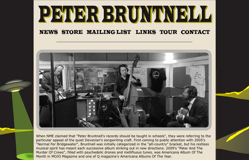 New Peter Bruntnell Musician Website now online