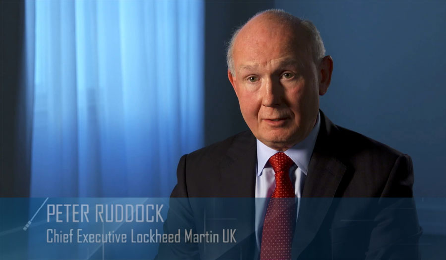 Interview edit for Peter Ruddock Chief Executive Lockheed Martin UK
