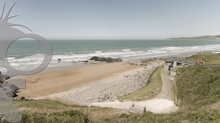 Scenic 4k Filming at Putsborough Beach