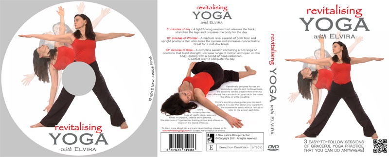 DVD authoring & artwork design for Revitalising Yoga