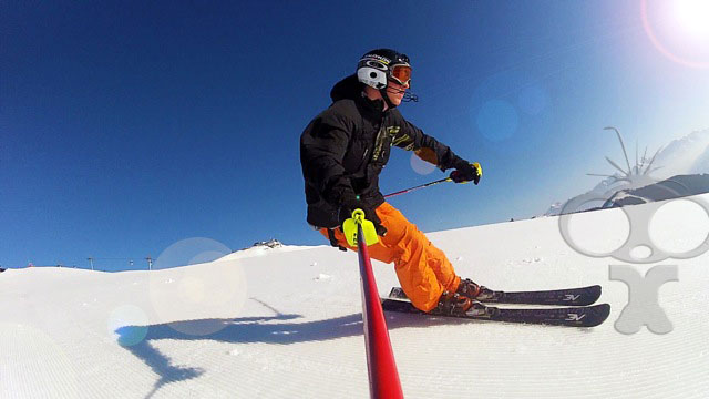 GoPro HD LCD backpack rental helps Sam capture long days on the piste