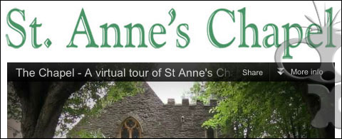 St Annes Chapel virtual tour film & website completed