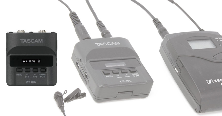 Tascam DR-10C micro audio recorders in stock