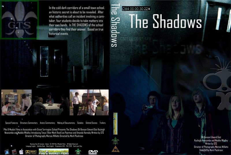 The Shadows dual-layer DVD duplication and cover printing for Great Torrington School