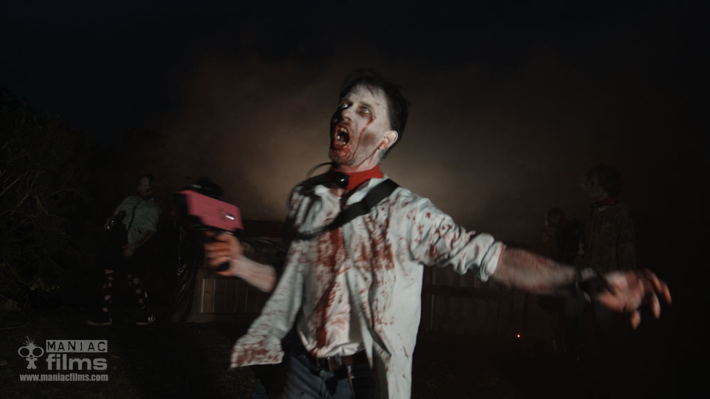 Night time Zombie Halloween combat gaming shoot filming