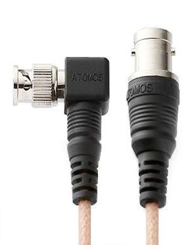 "Right Angle Mini BNC to BNC SDI Cables 28"""