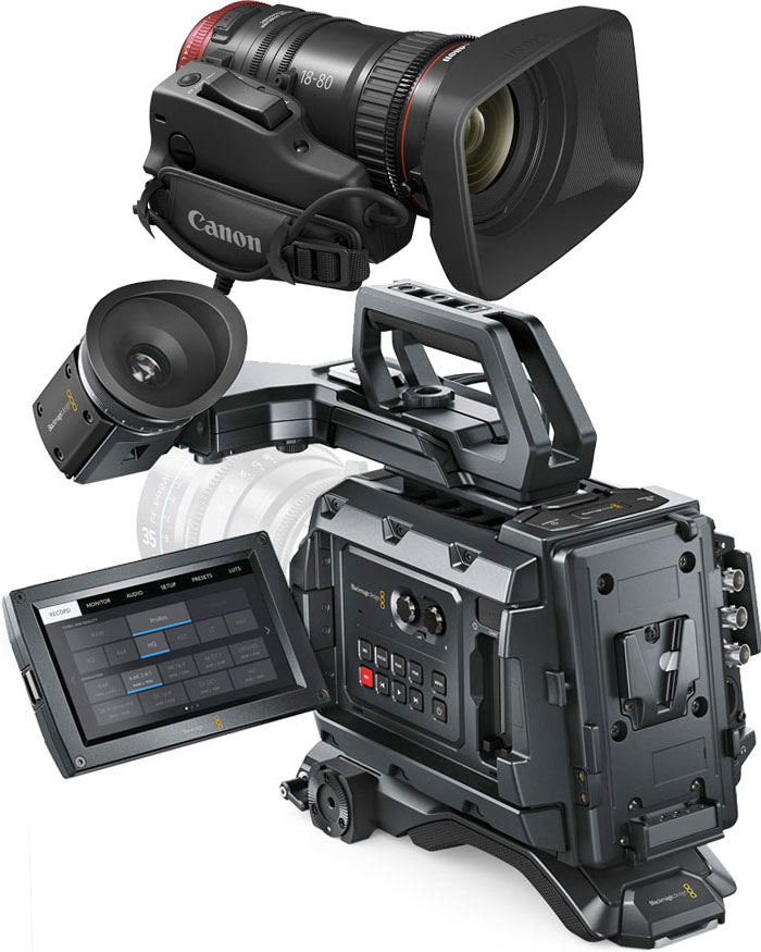 Kit: Blackmagic URSA Mini 4.6K EF film camera ENG shooting kit