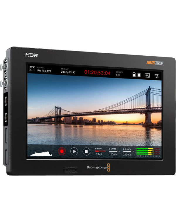 Blackmagic 7 Video Assist 4k Hdr Monitor Recorder Body Only Hire Maniac Films