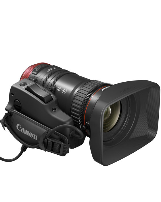 Image of the Canon CN-E 18-80mm T4.4 4K EF Compact Cine-Servo Lens Zoom kit
