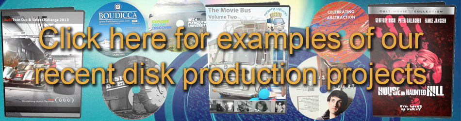 Sample DVD authoring & duplication projects from Maniac Films