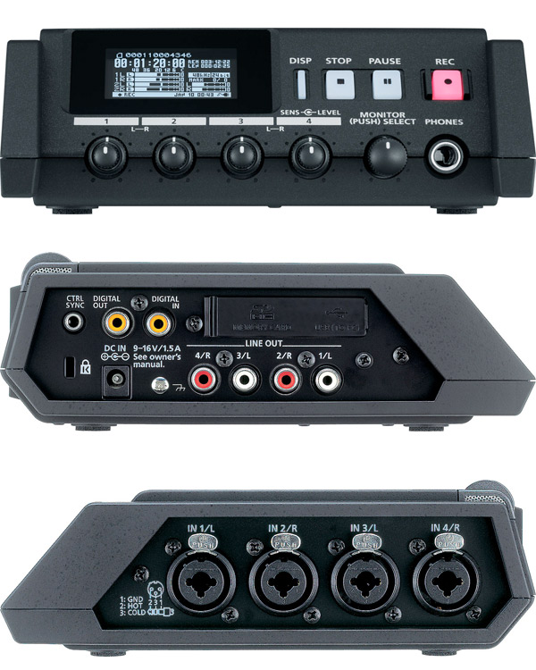 edirol roland r 44 four channel solid state audio field recorder hire maniac films. Black Bedroom Furniture Sets. Home Design Ideas