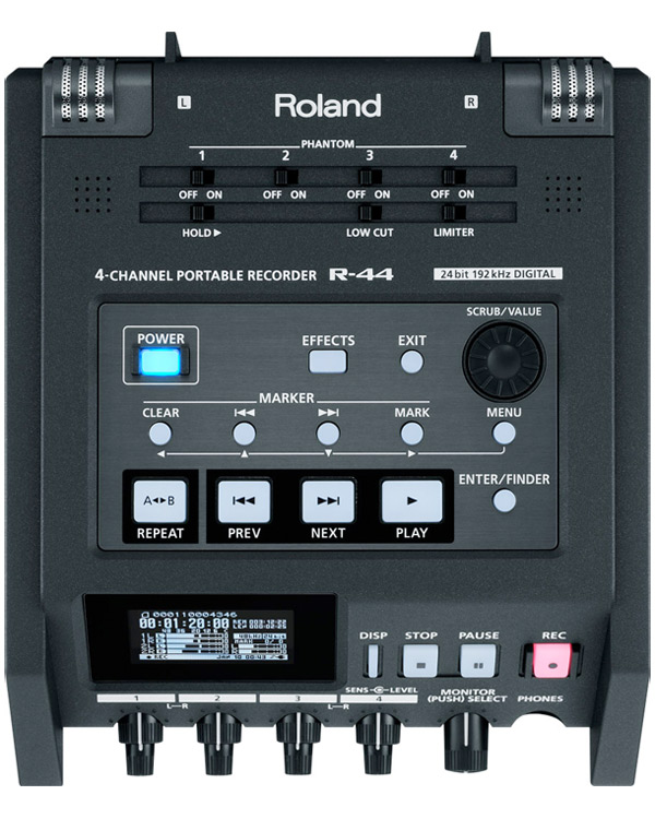 Image of the Edirol Roland R-44 Four Channel Audio Field Recorder R44 SD card