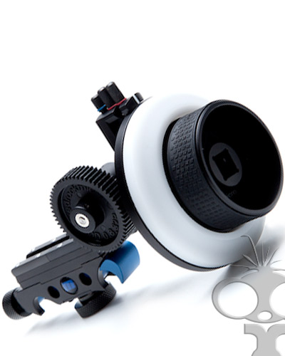 Redrock Micro Follow Focus Blue with hard stops