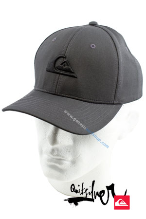 Example of Quiksilver cap with logo and watermarking before re-touching