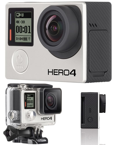 Image of the GoPro Hero 4 black edition 4k sports camera kit