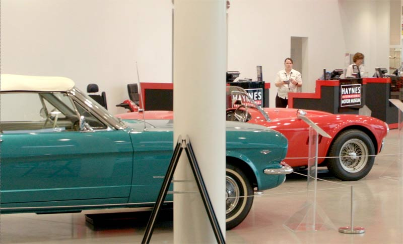 Haynes Motor Museum in Somerset home of lots of classic cars - especially red ones!
