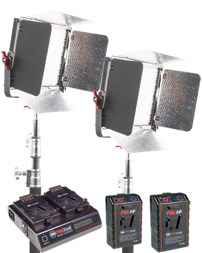Aputure Outdoor LED Lighting Panel kit with Batteries