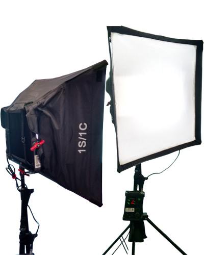 Image of the Aputure LS1c bi-colour Dual panel Diffused LED Lighting kit
