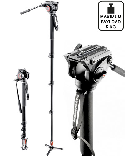 Image of the Manfrotto MVM500A Monopod with fluid head