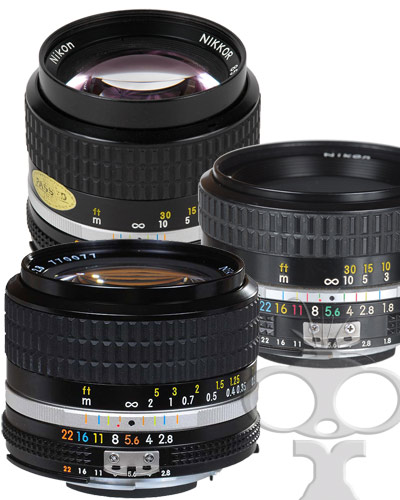 Image of the Nikon lens kit - 3 piece standard Canon EF mount