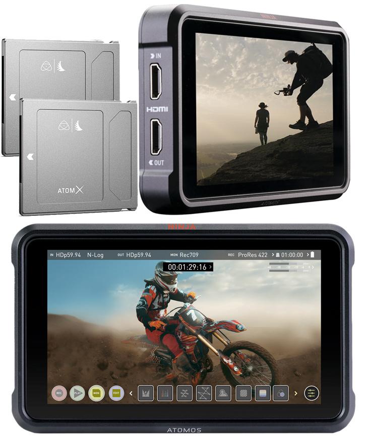 Atomos Ninja V 12G 10-bit HDR HDMI monitor recording kit
