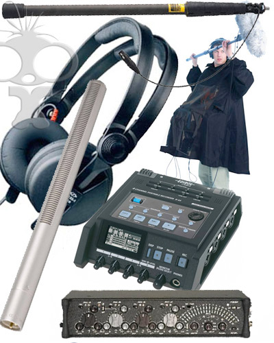 Image of the Pro location audio kit (outdoors)