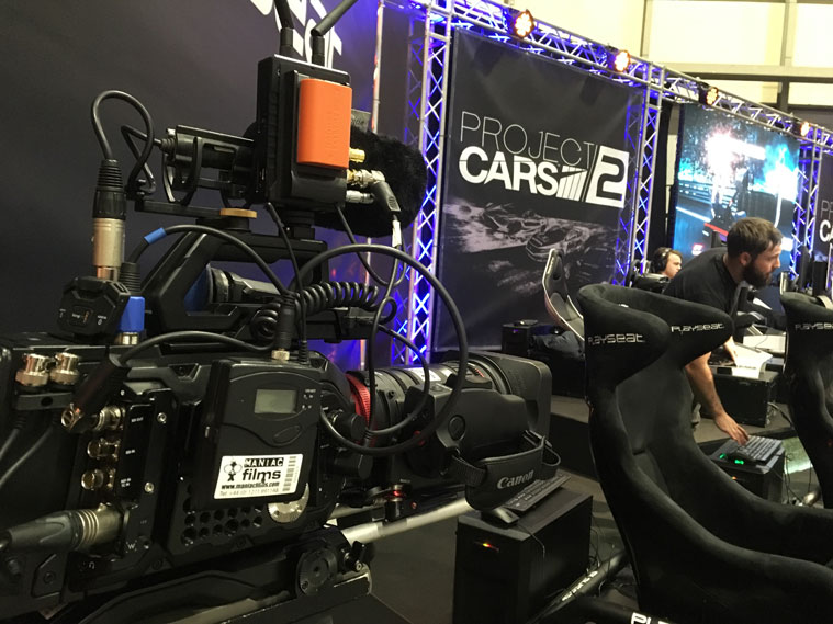 Our Blackmagic mini ursa pro with Canon Cine Zoom lens at the NEC Autosports International show