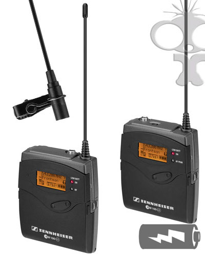 Image of the Sennheiser EW 100 Radio Mic Kit (CH 38) UK