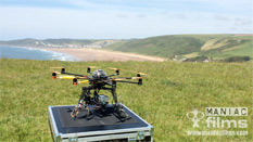 4k scenic ariel filming at Putsborough & Croyde Bay North Devon