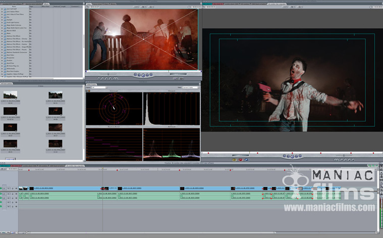 Editing 4k Zombie footage for Ecombat video