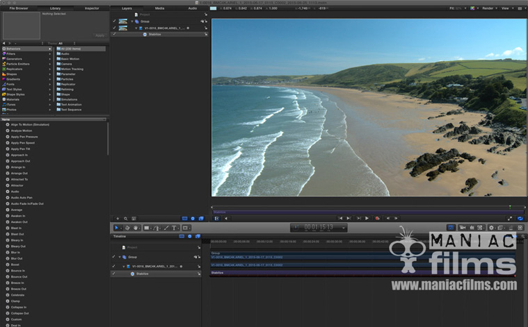 Stabilising 4k scenic aerial footage from Putsborough & Croyde Bay North Devon