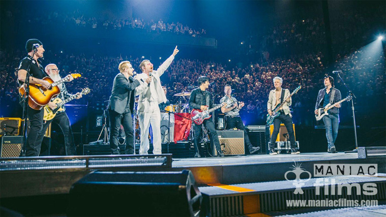 U2 Paris gig with multi camera live stream to HBO - Teranex hire