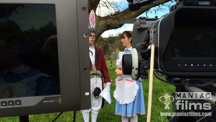 RHS promo 4k filming for Alice in Wonderland anniversary