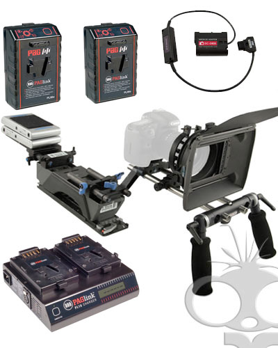 Image of the The Shoot n Go deluxe powered DSLR rig