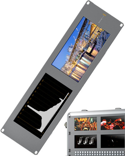 Image of the Blackmagic SmartView Duo SD/HD SDI production monitor