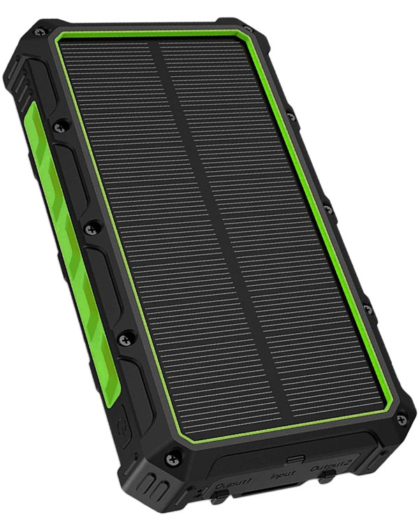 20000mAH Portable Solar 3A Fast Charger with Qi Wireless & USB