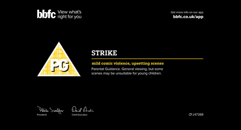 Strike animated feature receives PG rating at BBFC