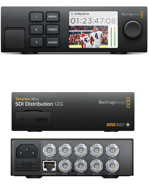 Image of the Blackmagic 12G-SDI Distribution Amp 1-8 SDI outputs