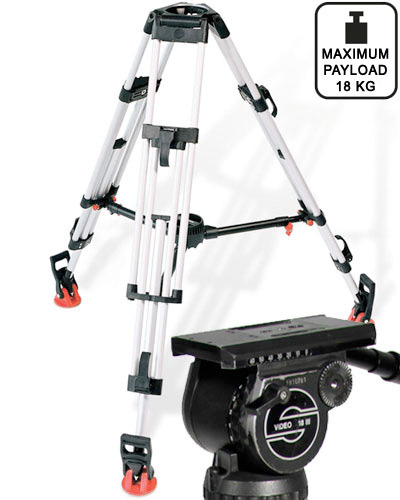 Image of the Sachtler 2D tripod with Sachtler Video 18 III head