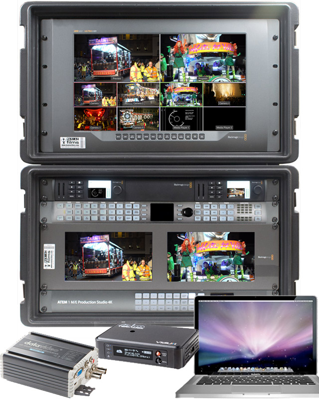 4K & HD Live event vision mixer video switch ultimate kit