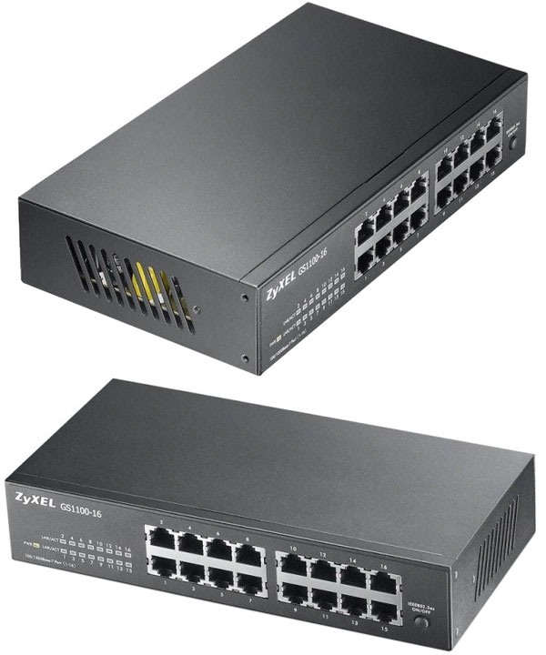 Zyxel 16 port Gigabit Unmanaged Ethernet Switch