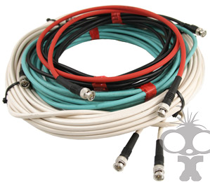 coiled BNC SDI cable