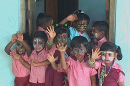 Happy children in Sri lanka