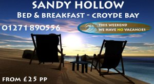 Sandy Hollow Croyde bed and Breakfast Accommodation
