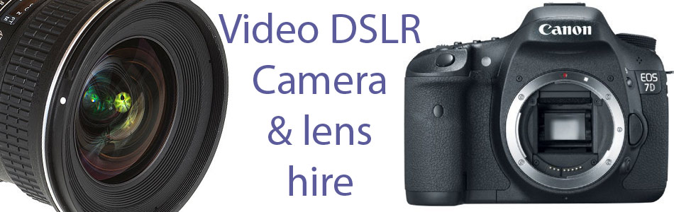 Video DSLR including the Canon EOS 7D for hire. A wide range of lenses also available for rental