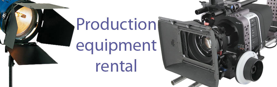 Production equipment rental - including Canon 7D, Panasonic AF101, sound equipment, grip and much more