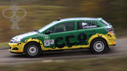 Tony Graham team SPG talks about his eco-diesel WRC car, winner of this years WRC Art car