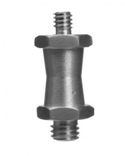 "Manfrotto short double male stud for super clamp 1/4"" and 3/8"""